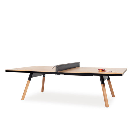 Ping-Pong Table You & Me Ping-Pong Table Tournament Size / Office / Dinning Table Oak Wood & Black RS Barcelona - Play Offside