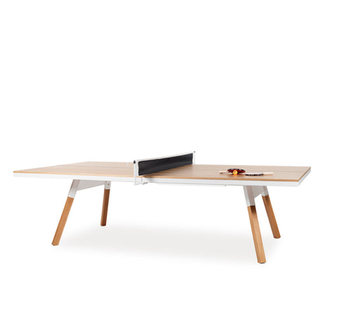 Ping-Pong Table You & Me Ping-Pong Table Tournament Size / Office / Dinning Table Oak Wood & White RS Barcelona - Play Offside