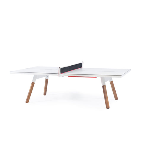 Ping-Pong Table You & Me Ping-Pong Table Tournament Size / Office / Dinning Table White RS Barcelona - Play Offside