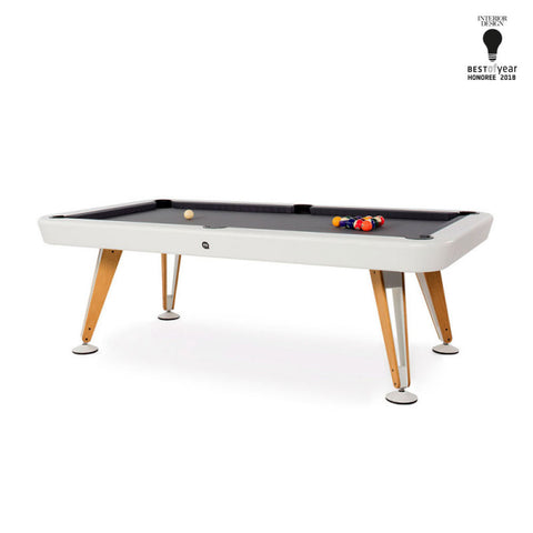 "Pool Table Diagonal Luxury Pool Table 7"" - Indoor White RS Barcelona - Play Offside"