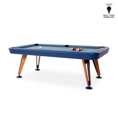 "Pool Table Diagonal Design Indoor Pool Table 8"" Blue RS Barcelona - Play Offside"
