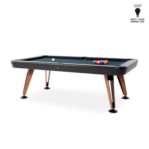 "Pool Table Diagonal Design Indoor Pool Table 8"" Black RS Barcelona - Play Offside"