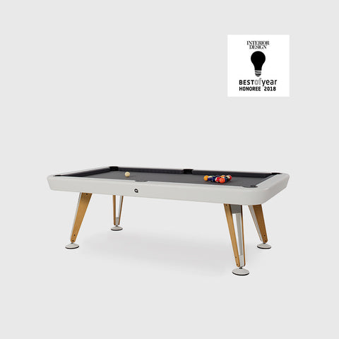 "Pool Table Diagonal Design Indoor Pool Table 8"" White RS Barcelona - Play Offside"
