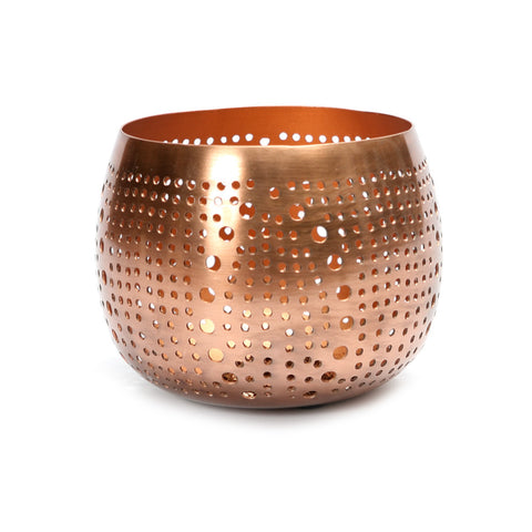 Candle Holder Copper Candle Holder Small Round Bazar Bizar - Play Offside