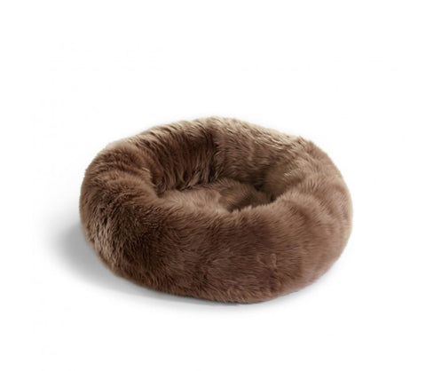 Cat Bed Luxury Faux Fur Cat Bed Lana Available in 3 colours Brown MiaCara - Play Offside