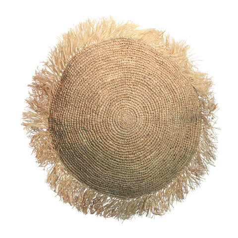 Cushion Raffia Cushion Round L Bazar Bizar - Play Offside