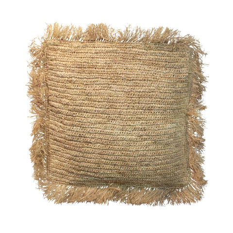 Cushion Raffia Cushion Square L Bazar Bizar - Play Offside