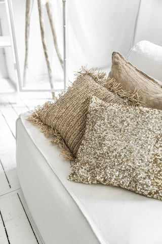 Cushion Raffia Cushion Square Bazar Bizar - Play Offside