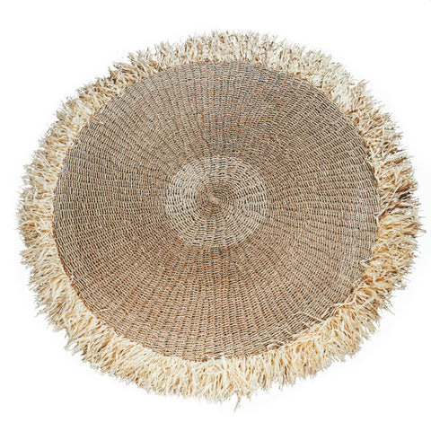 Carpet Raffia Fringed Carpet Circular 150cm Bazar Bizar - Play Offside