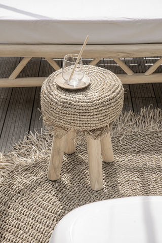 Carpet Raffia Fringed Carpet Circular Bazar Bizar - Play Offside
