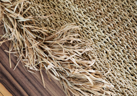 Carpet Raffia Fringed Carpet Rectangular Bazar Bizar - Play Offside