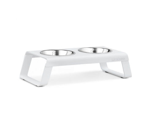 Pet Feeder Contemporary Design Cat Feeder Desco Available in 4 coulours White MiaCara - Play Offside