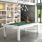 Pool Table Billiard Horizon Pool Table White / English Green Rene Pierre - Play Offside