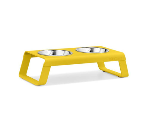 Pet Feeder Contemporary Design Cat Feeder Desco Available in 4 coulours Yellow MiaCara - Play Offside