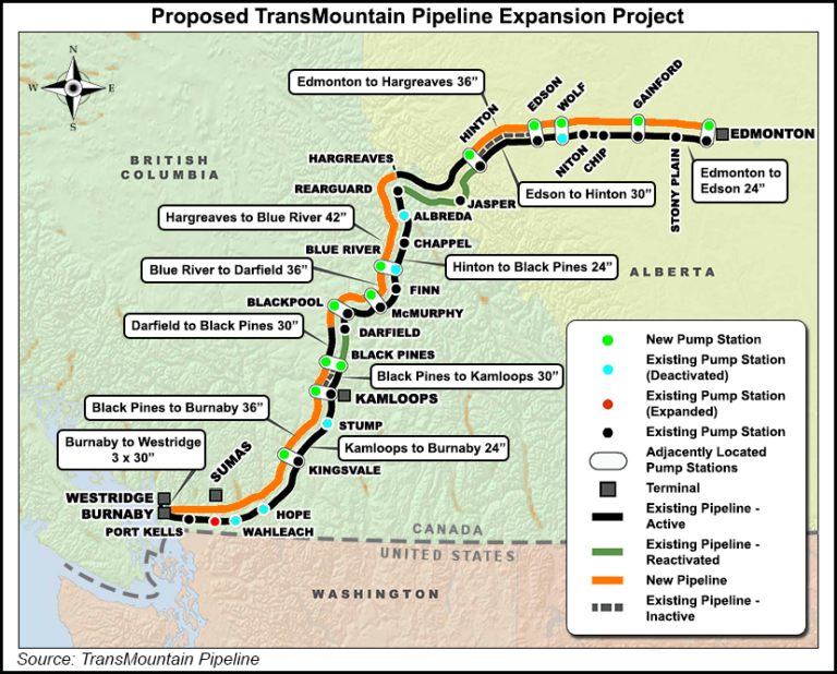 Proposed TransMuntain Pipeline Expansion Project general reference map.