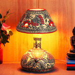 Best handmade table lamp for home decor made with papier mache technique from Mithila House