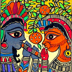 Radha-Krishna's Illustration of Eternal Love