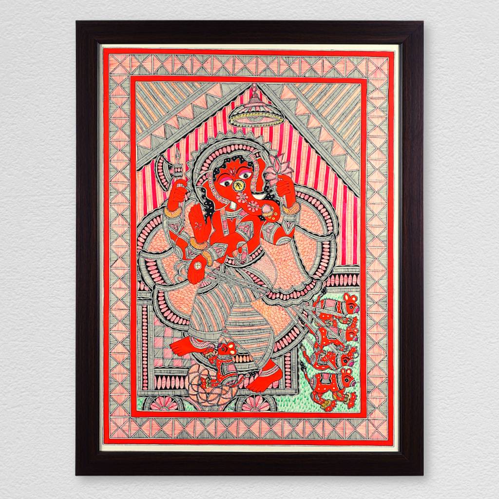 Lord of Wisdom Ganesha Handmade Painting