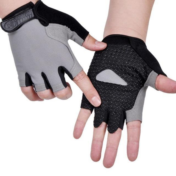 Anti Slip Weights Training Half Finger Gloves - Gorilla Workouts