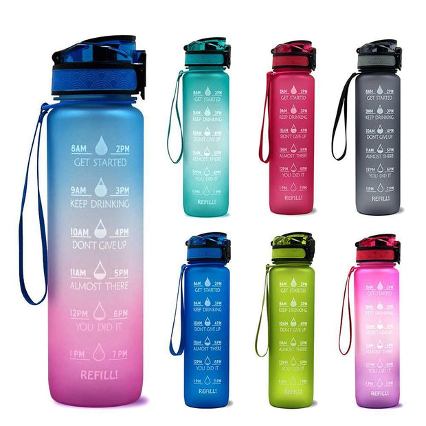 Water Bottle With Time Marker - Gorilla Workouts