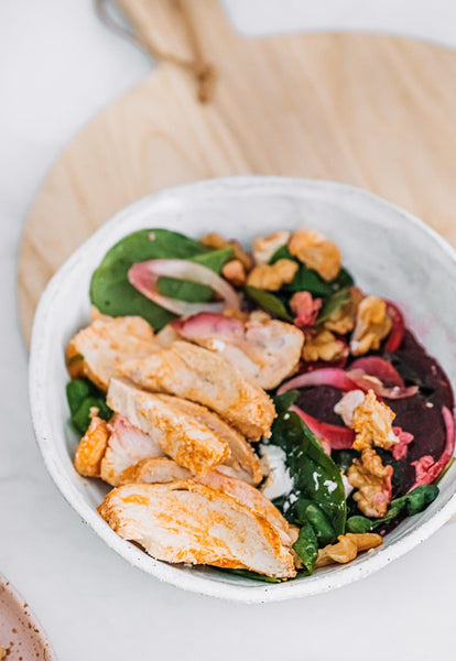 Beetroot and Walnuts Feta Salad - Chicken
