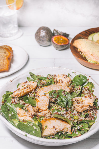 Quinoa Super Green Bowl with Chicken