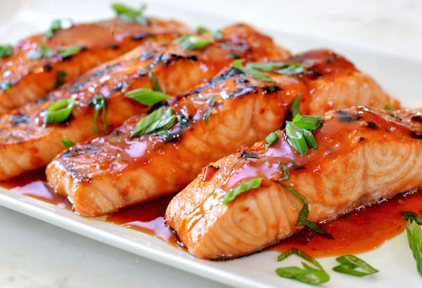 Sweet chilli Thai salmon with sweet potato