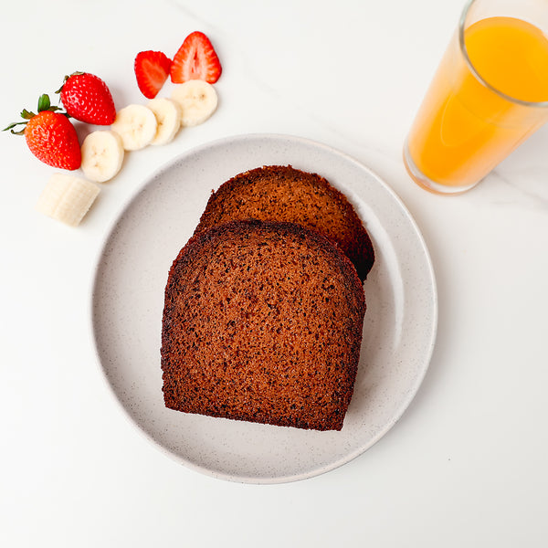 2 high protein Slices Protein Banana Bread