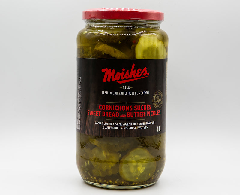 Moishes Bread and Butter Pickles
