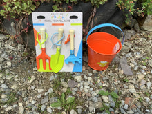 Load image into Gallery viewer, Kids Briers Gardening Set ,fork Rake Trowel And Bucket NEW children's birthday