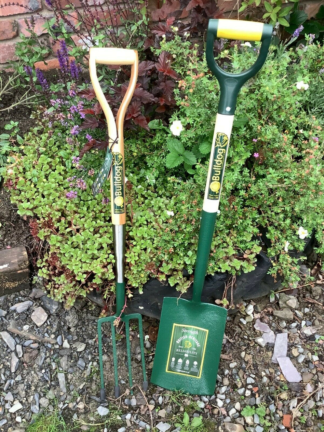 Bulldog Premier Border Fork YD & Evergreen Digging Spade Pack