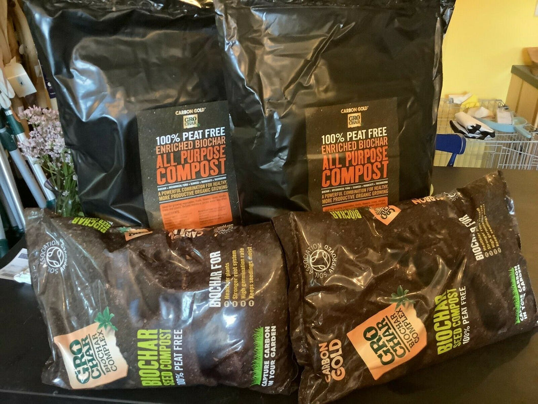 CarbonGold Homegrower Starter Pack -Compost, Seed Comp + BiologyBlend (PeatFree)