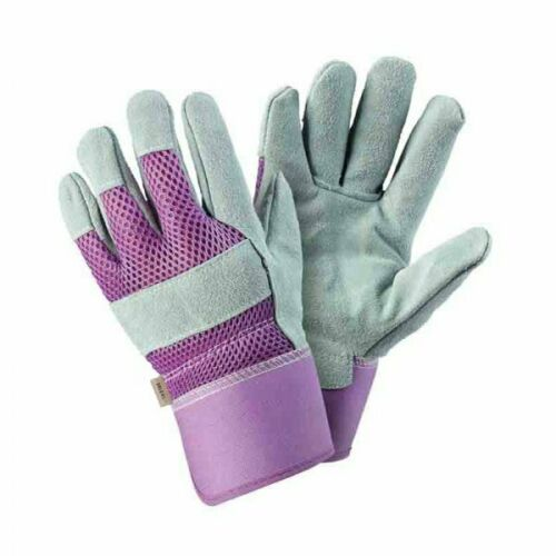 Womens/Ladies Briers Lavender Breathable Tuff Rigger Gloves Size 7