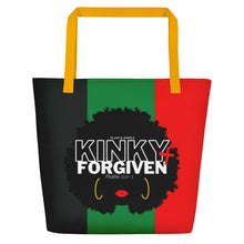 Load image into Gallery viewer, Plain and Simple Kinky and Forgiven Large Tote Bag - Psalm 32:1-2