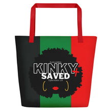 Load image into Gallery viewer, Plain and Simple Kinky and Saved Large Tote Bag - Ephesians 2:8