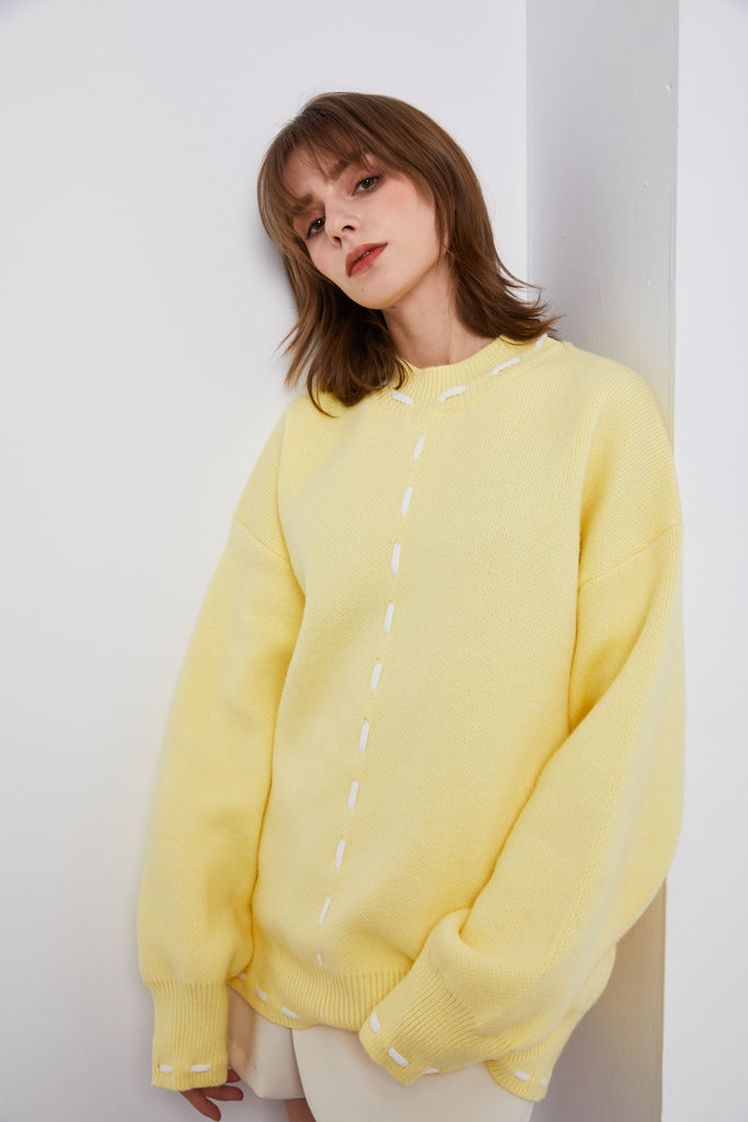 Yellow Starlight Sweater-Whizz