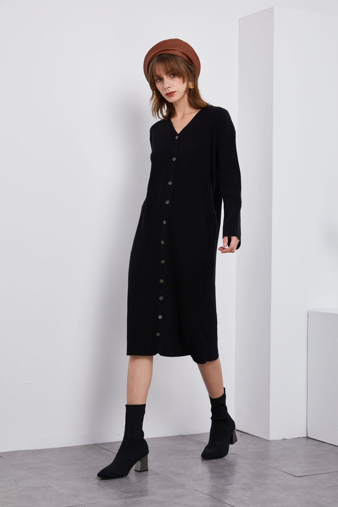 Comfy Button Front Maxi Dress-Whizz