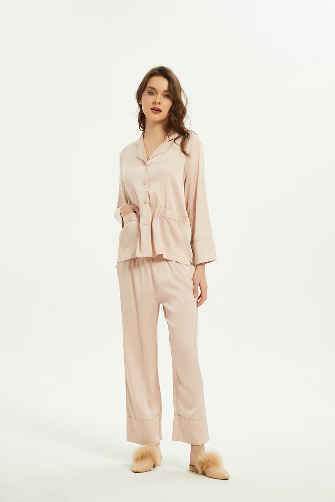 Blush Silk Pajama Set-Whizz