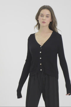 Whizz Loose-Fit Button Up Cardigan