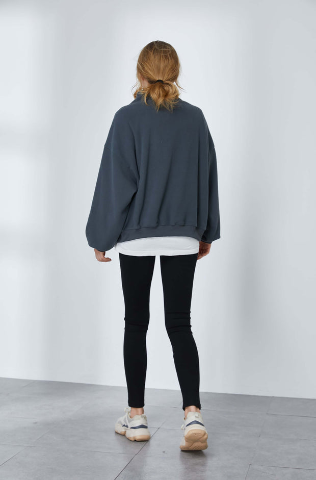 Half-zipped Fleece Sweater 1