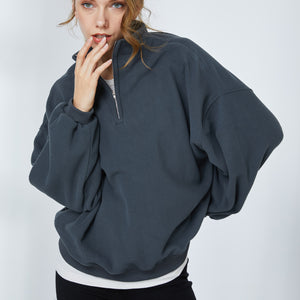 Half-zipped Fleece Sweater