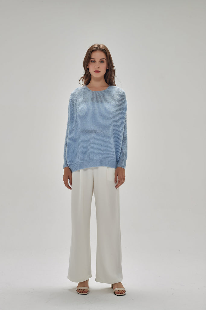 Whizz Mohair Baby Blue Sweater