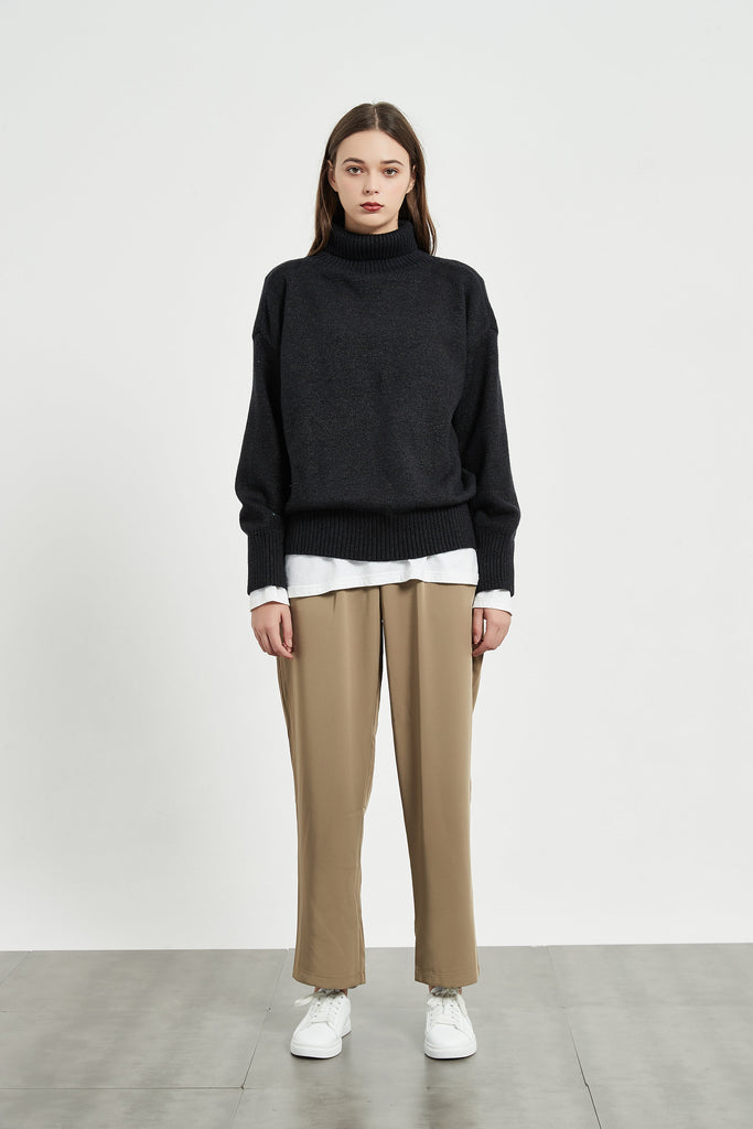 Whizz Turtleneck Knit Sweater