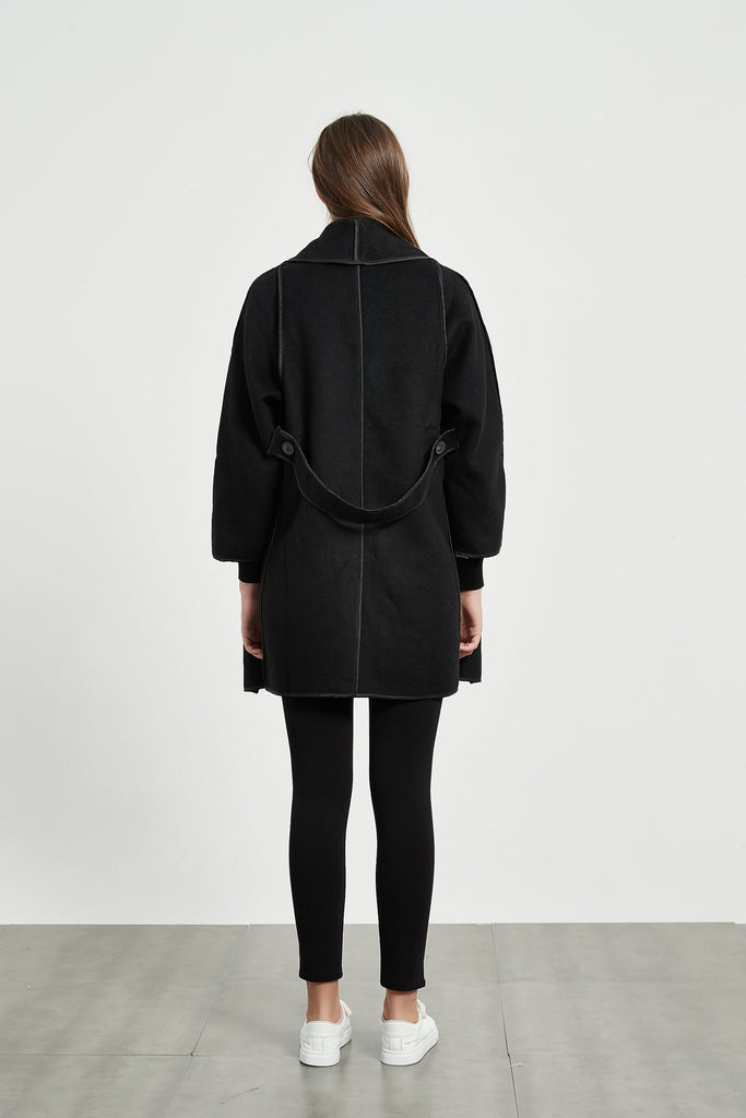 Whizz Oversized Single-Breasted Wool Coat
