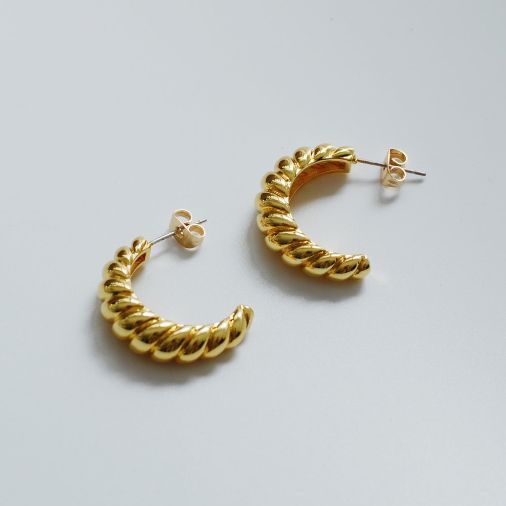 Whizz The Gold Croissant Hoop Earrings