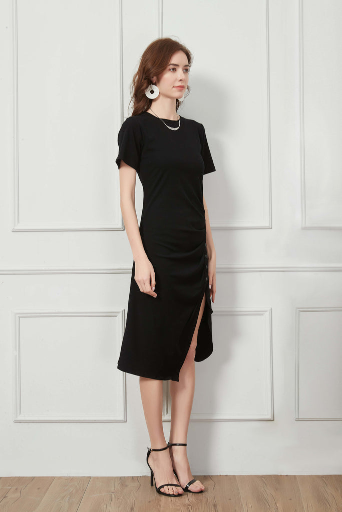 whizz chic midi t shirt dress