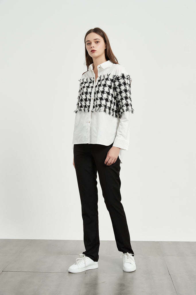 Whizz Houndstooth Front Panel Shirt