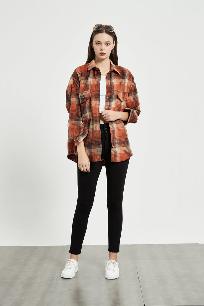 Whizz Maple Vintage Plaid Shirt