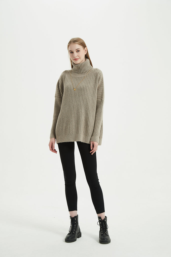 Whizz French Style Drop Shoulder Knit Sweater