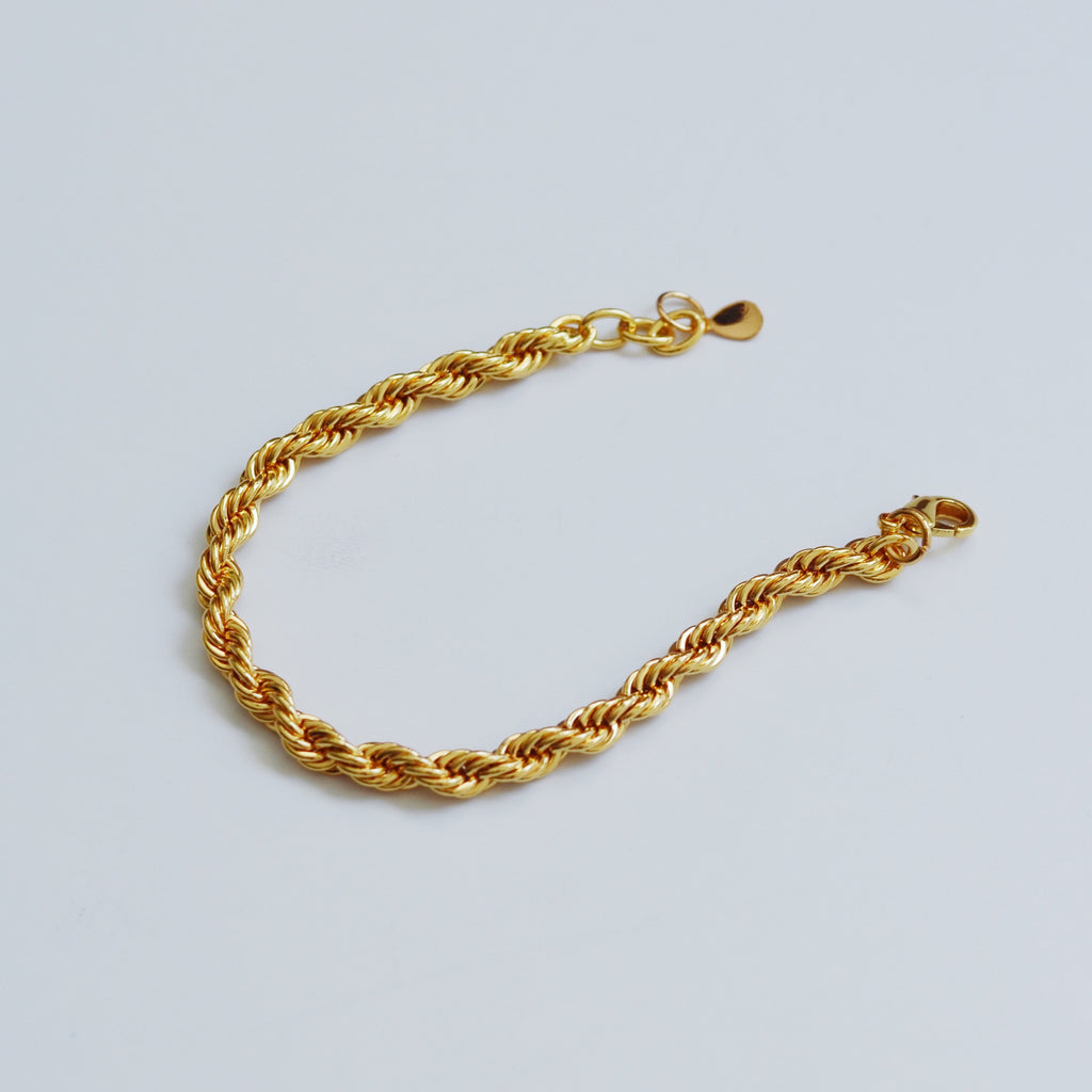 Whizz The Yellow Gold French Rope Bracelet
